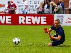 Tjark Grundmann, hier noch im Trikot von Eintracht Norderstedt, wird auch im kommenden Jahr das Osdorfer Tor hüten (Foto: Lobeca/Homburg)