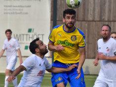 Samuel Hosseini (hier noch im Trikot von BU) ist einer von bislang fünf Neuen für den TSV Sasel (Foto: Lobeca/Gettschat)